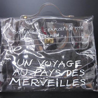 SALE SPECIAL Hermes a rare transparent Vintage vinyl Kelly bag Japan Edition