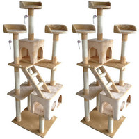Multi-Level Playground Cat Tree House Tower