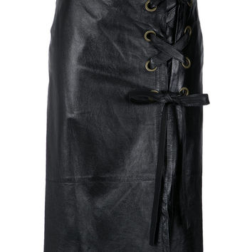 Nk Leather Midi Skirt - Farfetch