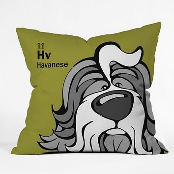 Angry Squirrel Studio Havanese 11 Throw Pillow