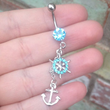 Anchor Belly Button Ring