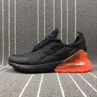 Nike Air Max 270 Black Orange Sport Running Shoes Ah8050-008 - Beauty Ticks