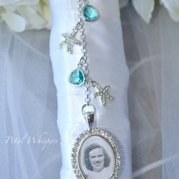 Bridal Bouquet Charm - Bouquet Photo Charm - Wedding Bouquet Pendant - Bouquet Pendant - Bridal Accessories - Custom Bridal Gift