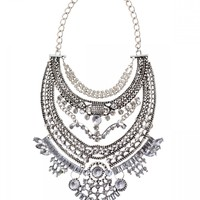 Glamorous Over The Top Statement Necklace - Happiness Boutique