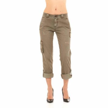 Red Jeans Women's Women Military Army Fatigue Denim Camo Pants