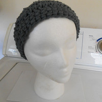 Smokey Grey Crochet Beanie Hat fits kids and adults