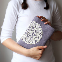 iPad case or sleeve Galaxy Tab 10.1 Crochet lace