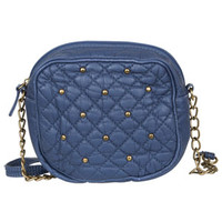 Quilted Crossbody Bag - Navy
