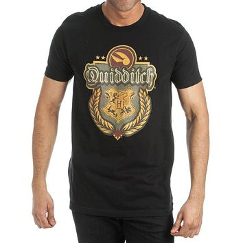 Hary Potter Hogwarts Quidditch Men's Black T-Shirt