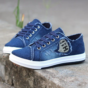 Denim Breathable Student Canvas Shoes