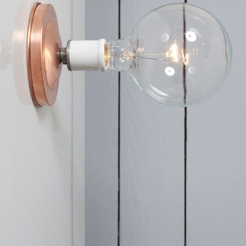 Copper Wall Mount Light - Bare Bulb