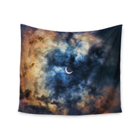 "Bruce Stanfield ""Night Moves"" Blue Orange Wall Tapestry"