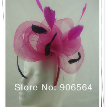 Multiple color feather flower Fascinator hair accessories  cocktail headwear party hats occasion headpiece  MSF278