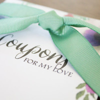 Sweet Printable Love Coupon Book Coupons for Anniversary Gift for Him Boyfriend Husband