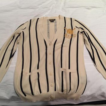 Rugby By Ralph Lauren Pinstripe Referee Cardigan