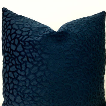 Navy Velvet Pillow Cover, Velvet Pillows, Navy Pillows, Throw Pillows, Decorative Pillows, Navy Velvet couch Sofa Throw Pillow Covers