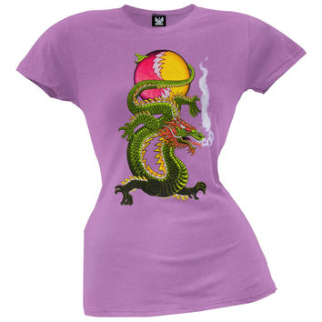 Grateful Dead - Lightning Bolt Dragon SYF Lavender Juniors T-Shirt