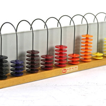 Abacus, Mid Century Abacus, Vintage Toy, Vintage Home Decor, Educational Toy