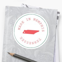 'Made in Memphis' Sticker by egusdesign
