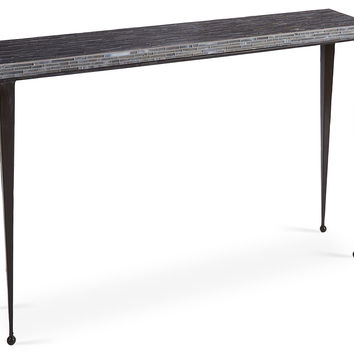 Mosaic Console, Gray, Console Table
