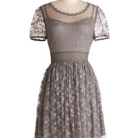 ModCloth Mid-length Short Sleeves A-line Pretty Pastries Dress