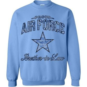 Proud Air Force Brother-in-Law Sweatshirt (Camo)