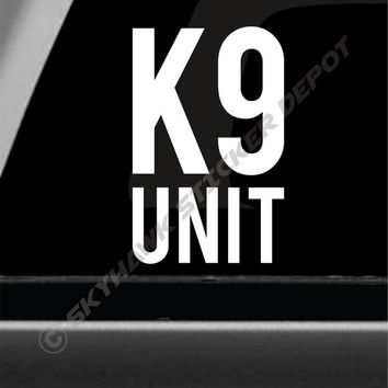 K9 Unit Police Officer Dog Bumper Sticker Vinyl Decal Law Enforcement Sticker Zombie Sticker Car Truck Decal German Shepard Puppy