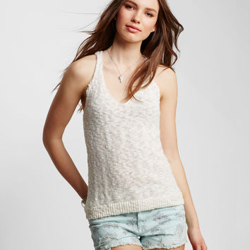 Solid Textured Knit Tank