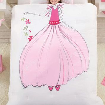 Girl's KAS Designs 'Princess' Reversible Comforter Set
