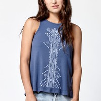 Element Tribe Muscle Tank Top - Womens Tee - Blue