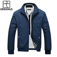Men Jacket Male Casual Slim Fit Turn-Down Collar Solid Jackets New Men's Fashion Overcoat Clothing