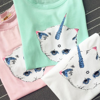 Magical Unicorn Cat Tee