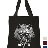 Winter is coming Tote ECO canvas GOT Game of thrones fan art shoulder hand bag | eBay