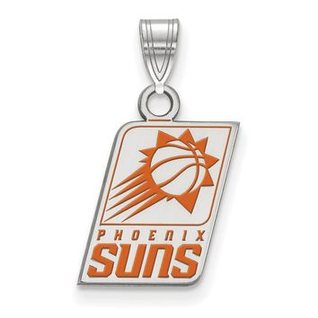 NBA Phoenix Suns Small Logo Pendant in Sterling Silver Necklace