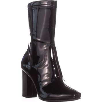 Kenneth Cole New York Alyssa High Rise Ankle Boots, Black, 7 US