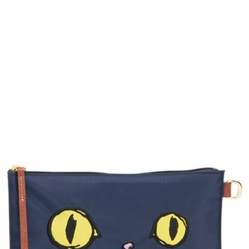 Longchamp 'Le Pliage Miaou' Cosmetics Case