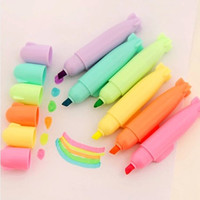 Set of 6 Assorted candy color Highlighter pens, Set of 6 color pens, color pen