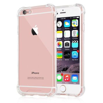 iPhone 6s Case,Yoyamo iPhone 6s Crystal Clear Cover Case [Shock Absorption] with Transparent Hard Plastic Back Plate and Soft TPU Gel Bumper for iPhone 6s 6