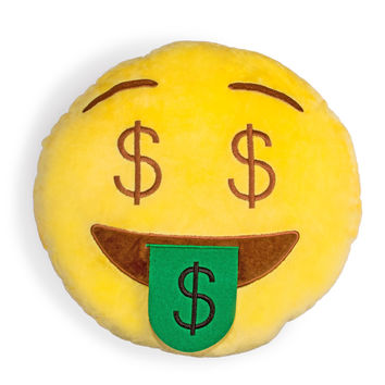 Money Face Emoji Pillow