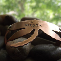 Dreaming of , copper bracelet  Ready to ship