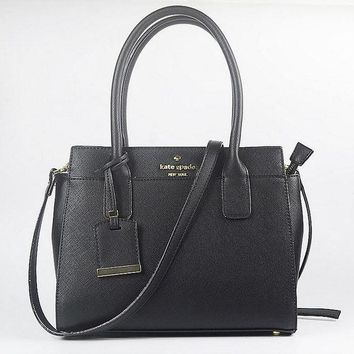 PEAP2Q hot sale kate spade fashion shopping leather tote handbag shoulder bag color black