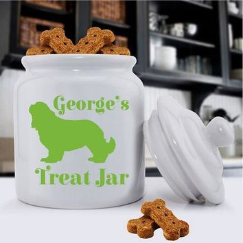 Personalized Classic Silhouette Fur baby Pet Treat Jar