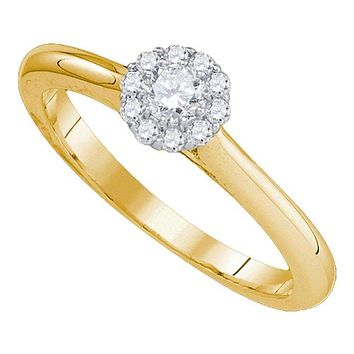 14kt Yellow Gold Women's Round Diamond Solitaire Bridal Wedding Engagement Ring 1/4 Cttw - FREE Shipping (US/CAN)