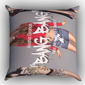 jessie j ariana grande nicki minaj bang bang  X0683 Zippered Pillows  Covers 16x16, 18x18, 20x20 Inches