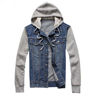 Denim Jacket for Men, Mens Windbreaker Jackets, Men's Denim Jacket