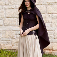 Rogue Cape Black Renaissance Halloween Costume