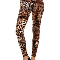Leopard Print Ankle Leggings