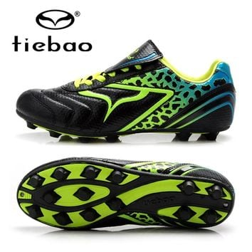 TIEBAO Professional FG & HG & AG Sole Training Soccer Shoes Cleats Outdoor Sport Football Boots Children Kids Sneakers EUR 34-38