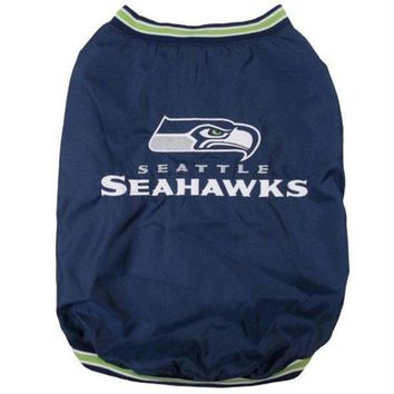 LMFON Seattle Seahawks Pet Sideline Jacket