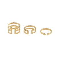 Trio Bar Stack Gold Rings – Wanderlust + Co